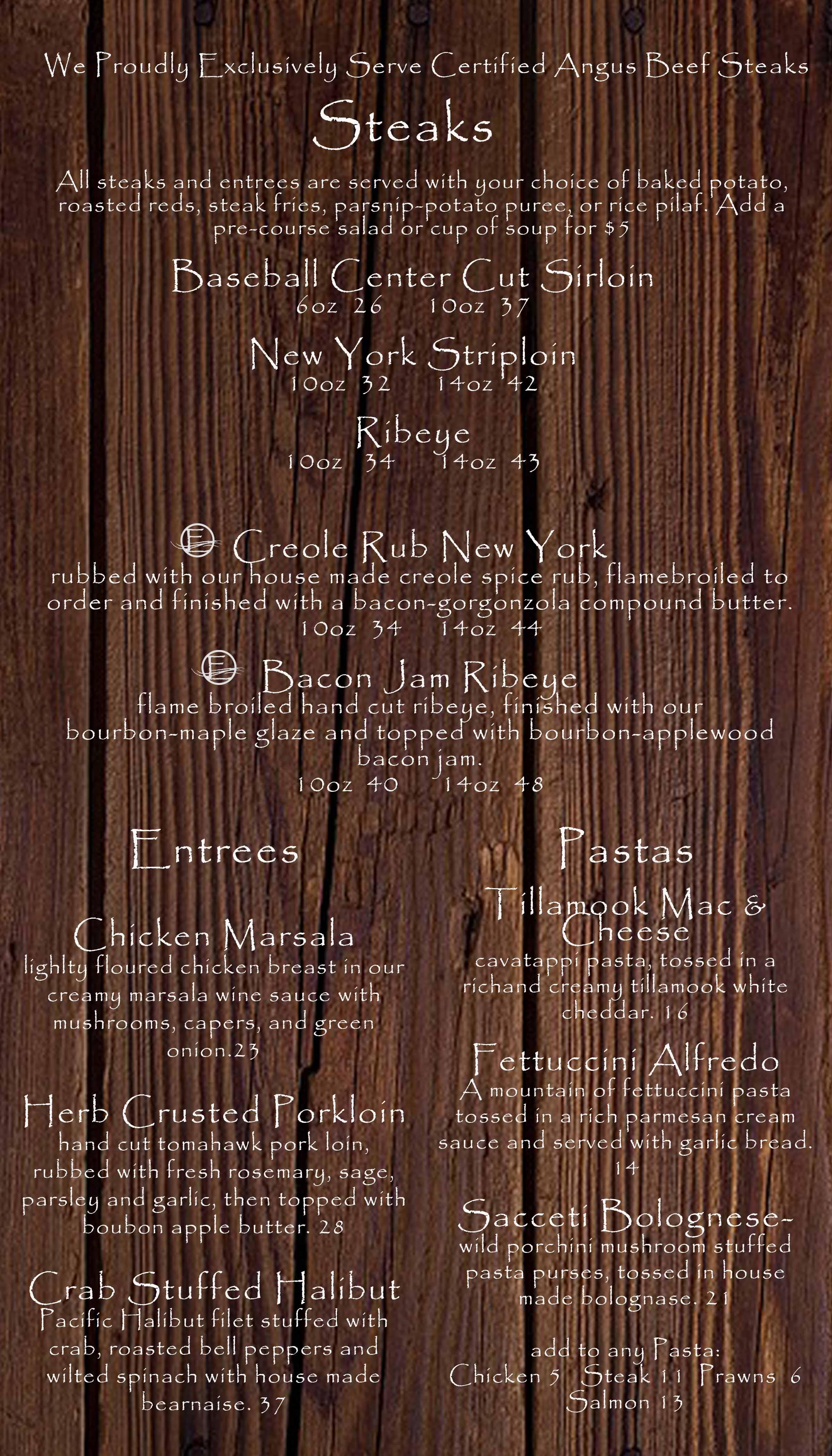 Restaurant | The EDGE Steakhouse & Sports Lounge • Zintel